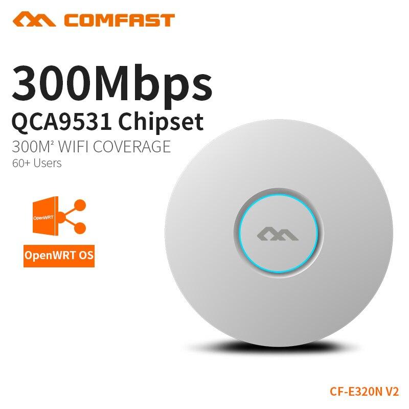 COMFAST brezžični Ap 300Mbps stropni AP 802.11b / g / n Wifi usmerjevalnik Notranji AP za pokritje z velikimi površinami WiFi pokritost Dostopna točka AP CF-E320N-V2