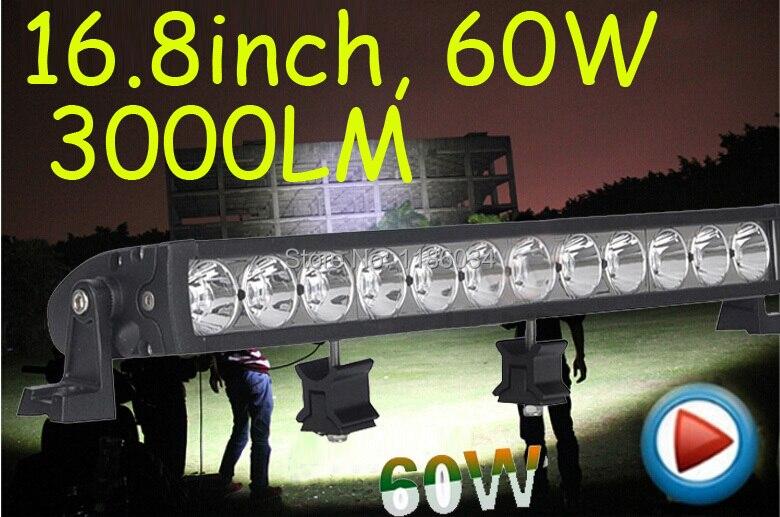 Бесплатно корабль DHL!1шт/комплект,16.8 дюйма 60W 3000lm Сид,10~30 В,6500 к,СИД работая бар,лодки,мост,грузовик,внедорожник offroad автомобиль,черный!15ВТ 45ВТ