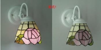 Tiffany Mode Europese Stijl Wandlamp Barok Bohemen Zeemeermin Spiegel Licht Mode Rustieke Bed-verlichting Lampen