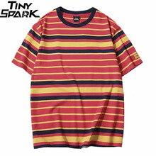Retro Vintage Striped T Shirt Streetwear Harajuku T Shirt Men 2019 Summer Hip Hop Tshirt Fashion Casual Tops Tees Short Sleeve