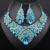 El envío Libre, La Moda de Moda de nigeria Perlas Africanas de la boda Joyería Fija el Collar Del Cristal Conjunto Banquete de Boda de Dubai De La Joyería