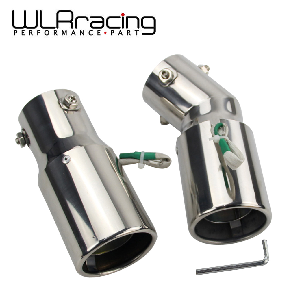 WLR- Universal Car Stainless Steel Spray Device Light Tail Throat Exhaust Red Leds Modified Flame Spray Light Modulator Styling