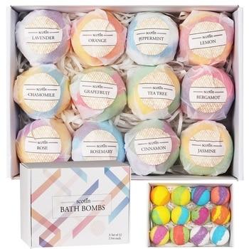 New 12pcs/box Bath Salt Ball Set Exfoliation Cleaning Pores Anti-mite Oil-control Bath Bombs Bath Salts Kit