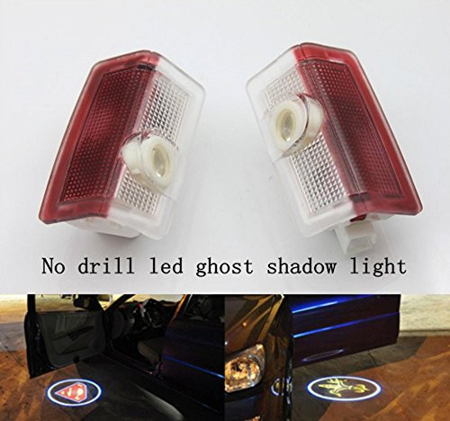 Car LED Door Light With 3D welcome Ghost Shadow Logo projector for Mercedes-Benz W246 W212 W204 W166 External Welcome door lamps 2pcs led car door logo projector for benz led car door welcome light car logo light shadow light hot selling