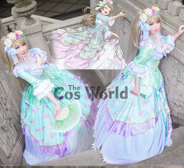 Love Live École Idol Projet Minami Kotori Danse Robes de Soirée Cour Pleine Robe Uniforme Outfit Anime Cosplay Costumes