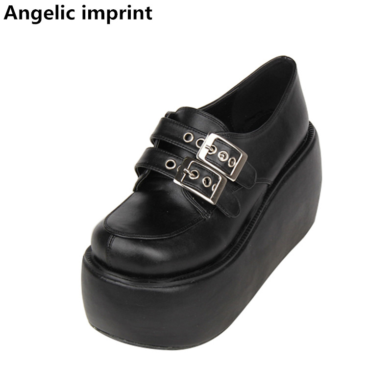 Angelic imprint new woman mori girl lolita cosplay punk shoes lady high heels pumps women princess