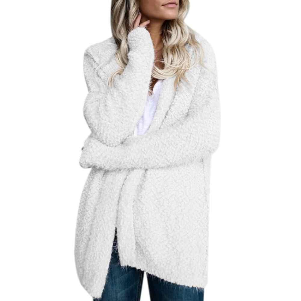MISSKY 2018 Новый Женский Повседневный свитер модный Кардиган с длинным рукавом с капюшоном