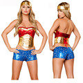 Cosplay Costume Wonder Woman Heroine Comic Superhero costumes Fancy Dress Halloween Adult Dress Up