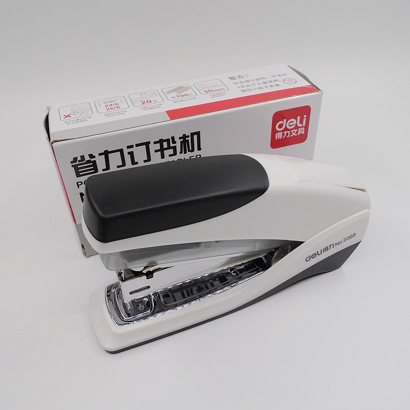 [Deli] High Quality Power Saving Stapler Use For 24/6 26/6 Staples Metal Manual Stapler Office Binding Supplies No.0368 deli 0392 heavy duty stapler thickness 50pcs paper binding machine grapeador agrafeuse grapadora nietmachine chancery papelaria