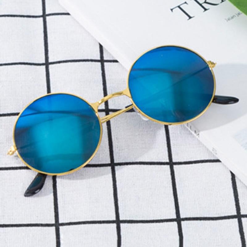 New Womens Round Sunglasses Retro Gold Silver Black Frame Unisex Eyewear Female Male Sun Glasses for Men Oculos Gafas