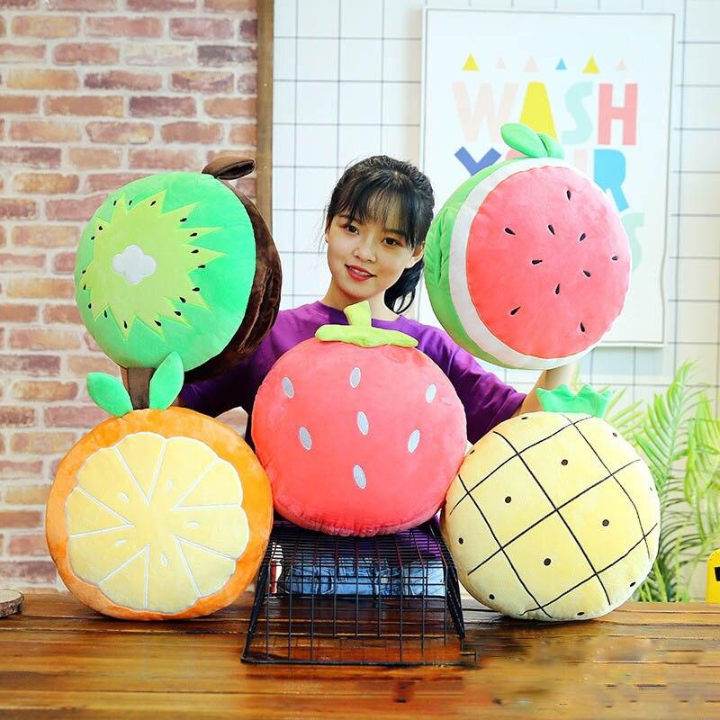 35 Cm Plüsch Kissen Ausgestopften Kreative Neue Obst Erdbeere Cartoon Ananas Bolster Kissen Decke Rückenlehne Kissen Vier In Einem Online Shop Stofftiere & Plüsch
