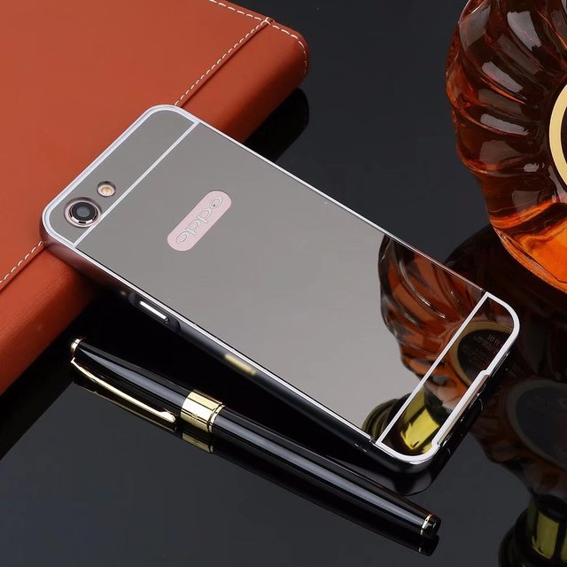 official photos 27023 92b30 US $3.49 |For OPPO A71 Case Gold Metal Aluminum Bumper Mirror Cases For  OPPO A71 Luxury Acrylic Cover Fundas-in Fitted Cases from Cellphones & ...