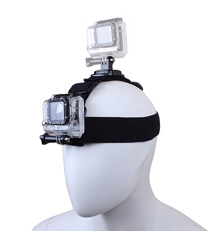 New Designed Head Band Strap Belt With Dual Mount Holder For Gopro Hero 4 3+ 3 2 SJCAM Xiaomi Yi Camera