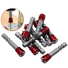 1 4 #8222 bity czerwona głowa sterownik magnetyczny Hex Shank z magnetyzer krzyż magnetyczny Bit ręcznie wkrętarka elektryczna akcesoria do narzędzi tanie tanio CHBDGJ Maszyny do obróbki drewna Inne