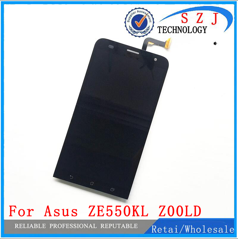 New 5.5 inch case For Asus ZenFone 2 Laser ZE550KL Z00LD LCD Display Panel Screen Monitor Digitizer Touch Screen Glass Assembly new 5 inch case for asus zenfone go zb500kl full lcd display touch screen panel digitizer assembly replacement free shipping