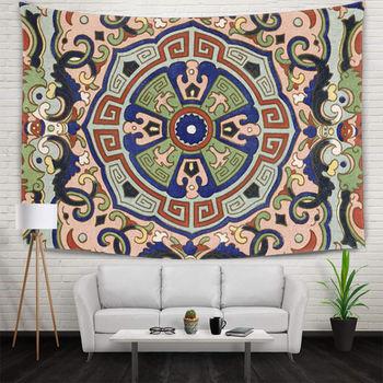 Цифровая печать национальный геометрический рисунок гобелен яркий красочный настенный гобелен 130x150 см для спальни гостиной