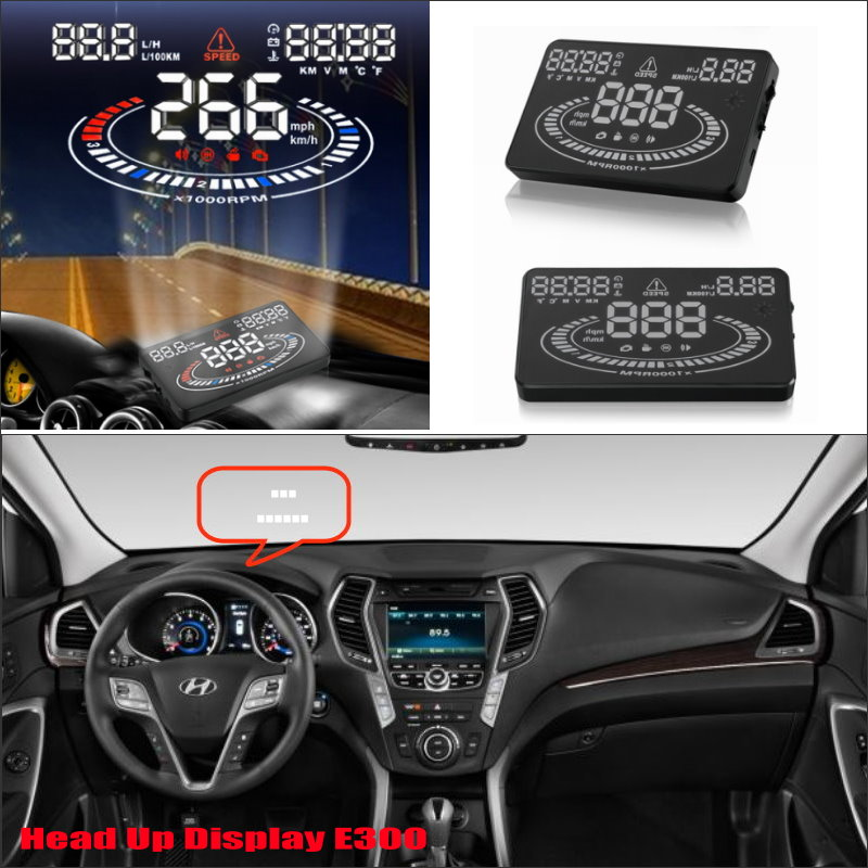 For Hyundai Elantra / Santa FE / Sonata 2015 2016 Car Head Up Display Saft Driving Screen Projector - Refkecting Windshield rastp m9 hud 5 5 inch head up windscreen projector obd2 euobd car driving data display speed rpm fuel consumption rs hud011