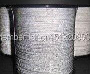 Tm9820: 0.3 мм * 5000 м двухсторонняя Светоотражающие нить, 100% полиэстер class2 Светоотражающие Пряжи forhand вязаная одежда