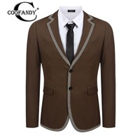 COOFANDY New Arrivals Men's blazer Slim Fit Notch Lapel Long Sleeve Formal Business Blazer slim fit mens blazer for Casual Wear