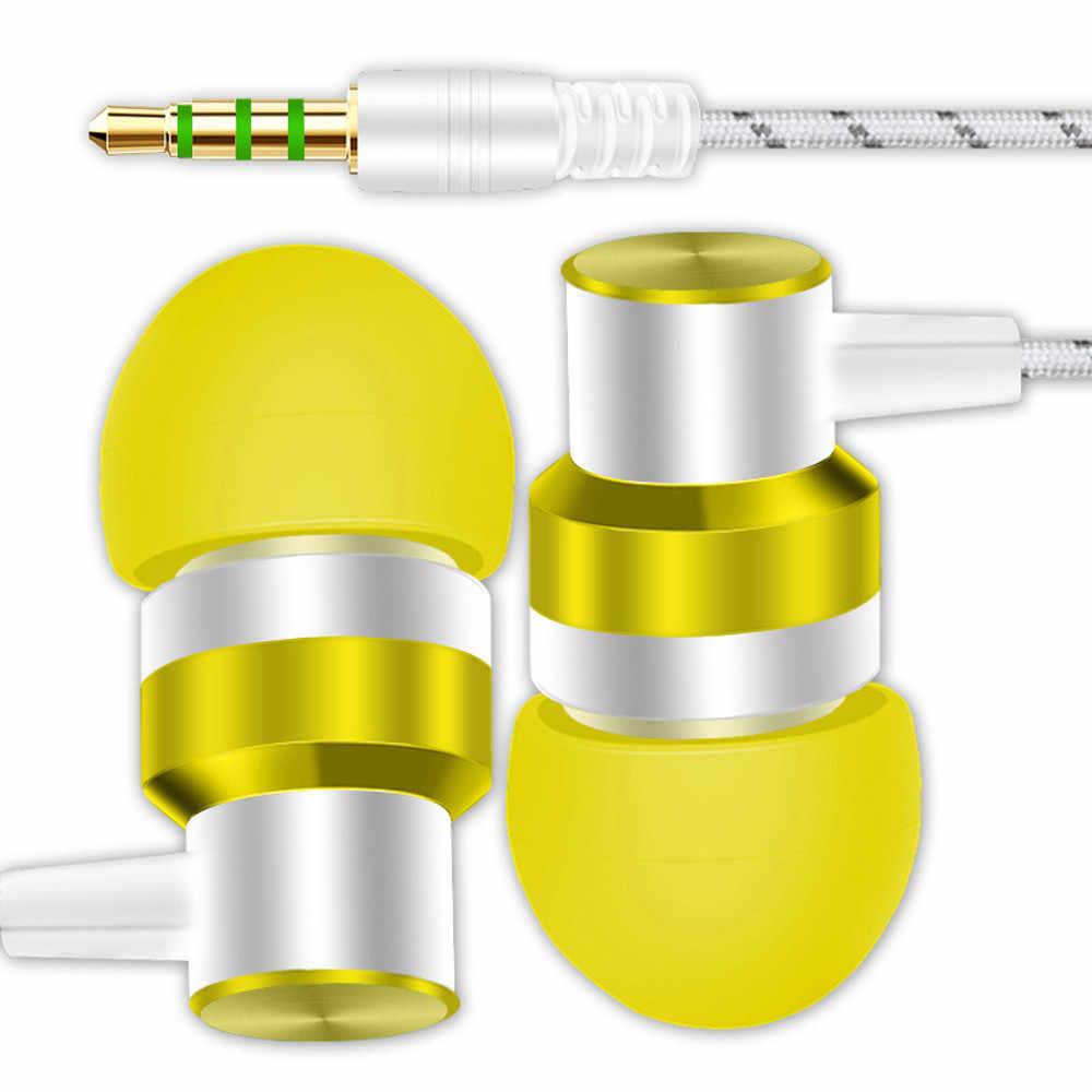 HIPERDEAL 2018 Hot moda uniwersalny 3.5mm w ucho słuchawki Stereo z mikrofonem dla smartfonów słuchawki Dropshipping