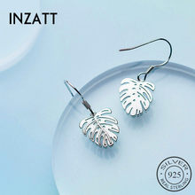 INZATT HOT Trendy Monstera Leaf Tropical Plant Drop Earrings For Women Charm Wedding Party Fashion Jewelry New 2018 Style Gift(China)