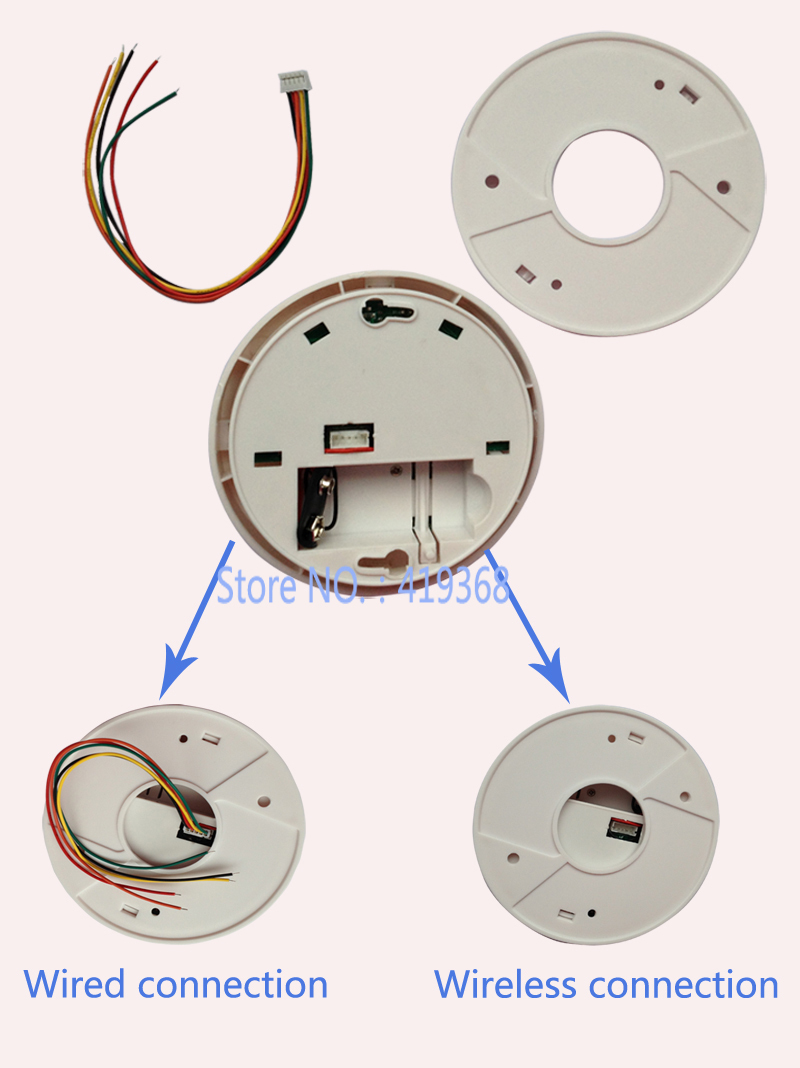 433MHz Ceiling or wall mounting Standalone Photoelectric Heat and Smoke Detector 2 in 1 with 9VDC 85dB alarm signal (DT-02)