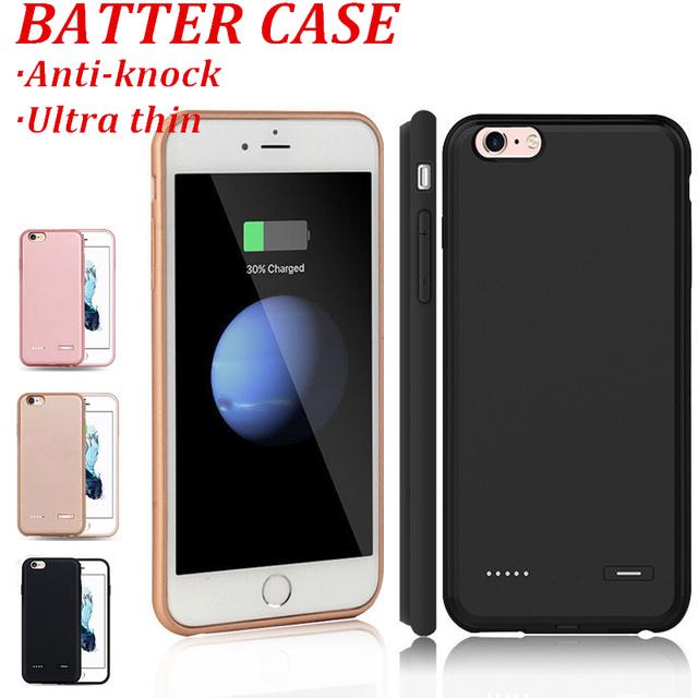 Energia da bateria de backup externo case para iphone 6 6 s do telefone móvel ultra fina case para iphone 6 6 s plus poder de carregamento do telefone case
