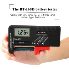 BT-168D Portable Digital Battery Tester Volt Checker for 9V 1.5V  Button Cell Rechargeable AAA AA C D Universal Battery Teste