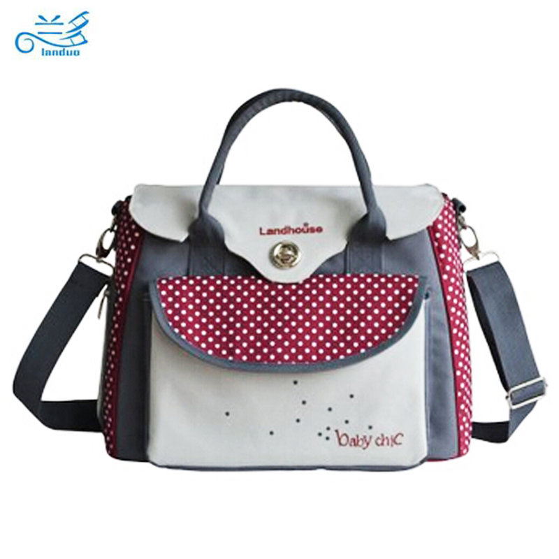 ФОТО Landuo baby diaper bags baby nappy bag mummy maternity bag lady handbag messenger bag diaper shoulder bolsa maternidade