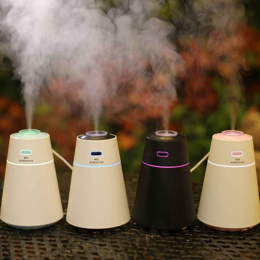 Portable USB Air Humidifier Essential Oil Diffuser with Colorful LED Light Air Purifier for Home Office AromatherapyPortable USB Air Humidifier Essential Oil Diffuser with Colorful LED Light Air Purifier for Home Office Aromatherapy