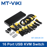 MT VIKI 16 port smart USB KVM switch/switcher with IR control support 1920*1440 16 in 1 out for DVR & games MT 1601UK CH