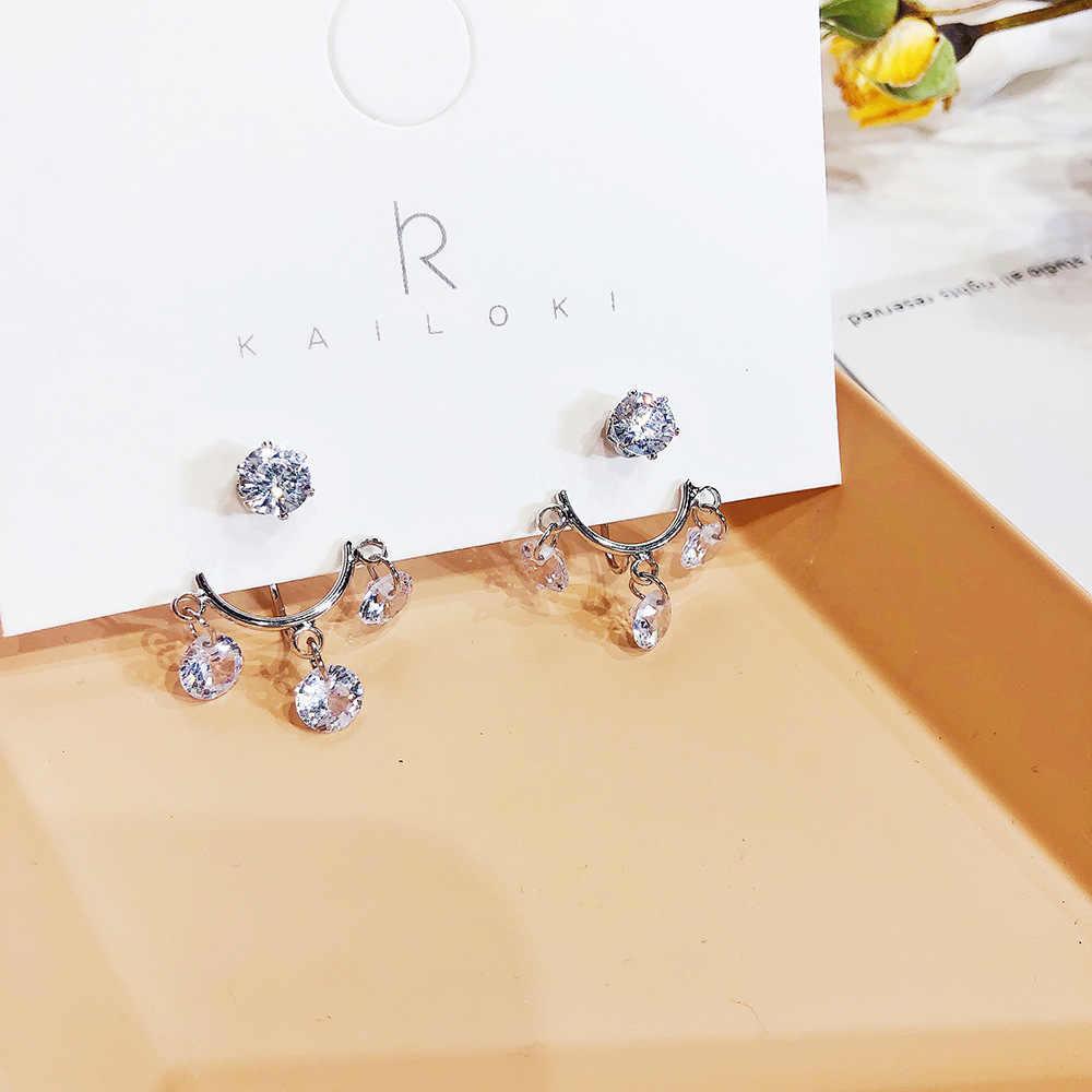 Classic Geometric Crystal Women Stud Earrings Temperament Tassels Earrings Fashion Jewelry Womens Accessories