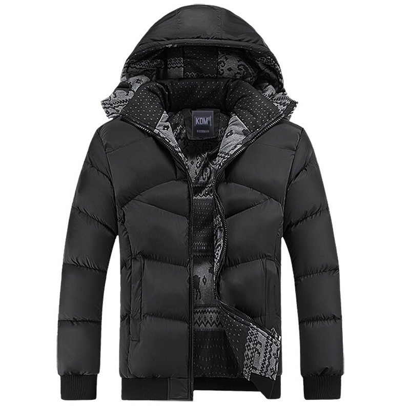 Подробнее о Hot Winter Coat Men Casual Windbreaker Hooded Cotton Duck Mens Jackets And Coats Male Thick Warm Padded Overcoat High Quality men s down jackets mens brand thick warm fur collar hooded duck men cotton padded male casual winter jacket men chaqueta hombre