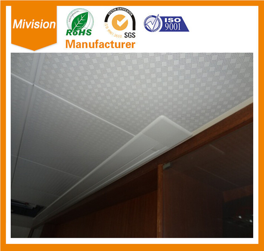 16:10 Widescreen Format 80'' Electric Ceiling Recessed Screen 107*170cm Standard with RF control, fiberglass