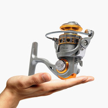 Small Shore Ice Fishing Reel 12+1BB Seamless Structure Gapless Spinning Reels Line Wheel Metal Wire Cup Rocker Arm