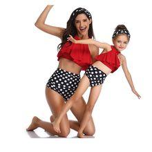 CALOFE/купальник для мамы и дочки; комплект купальников бикини; одежда для мамы и дочки; одежда для мамы и ребенка; Семейные комплекты