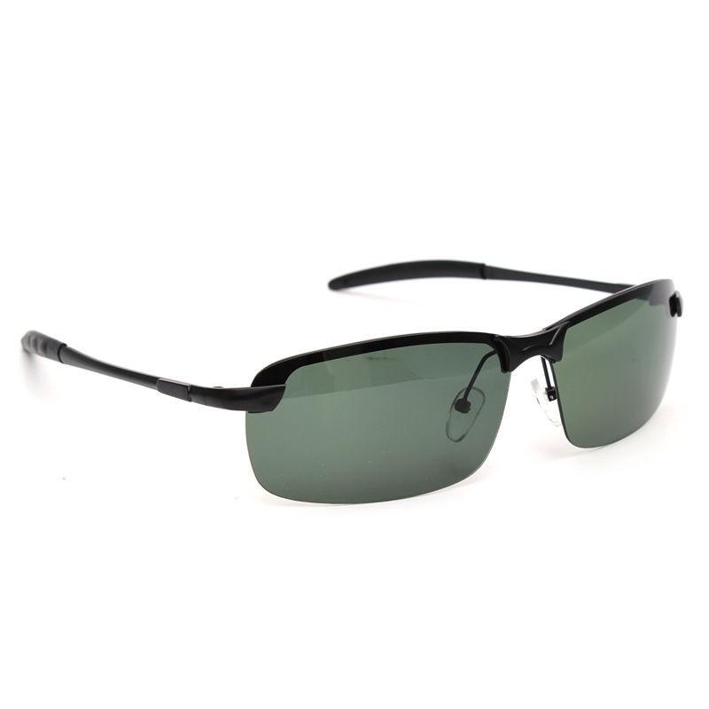 d35406901e Bobing Outdoor Sports Anti UV Fishing Sunglasses Dark Green Metal Frame  Polarized Sunglasses Fishing Eyewear-in Fishing Eyewear from Sports    Entertainment ...