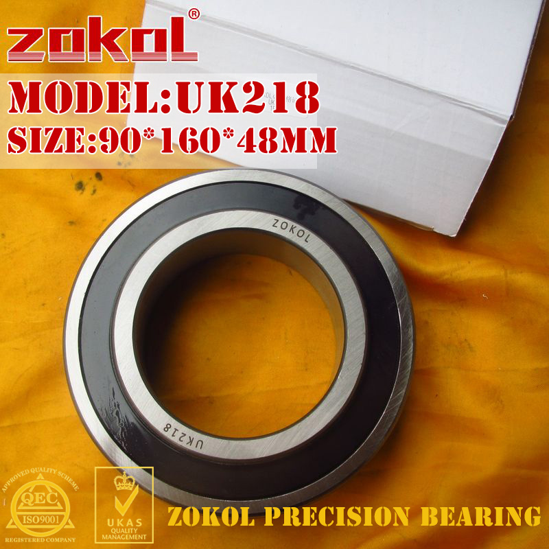 цены ZOKOL bearing UK218 Taper hole 190518 Pillow Block Ball Bearing 90*160*48mm