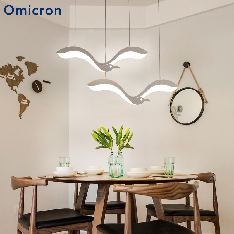 Omicron Modern LED Chandeliers Seagul Creative Seagull Art Decor Lamp For Bedroom Living Room Bedroom Home
