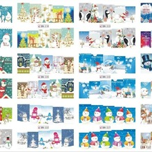 Merry Рождество наклейки снег олень белого и синего цвета красный пари ногтей Наклейки P Книги по искусству ногтей 12 узор советы Книги по искусству для детей для женщин Красота