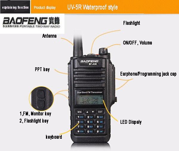 US $33 25 40% OFF|Baofeng BF A58 Waterproof Dustproof 5 10 Km Long Range  Walkie Talkies 2 Way Radio For CB Radio Station Ham Radio Hf Transceiver-in