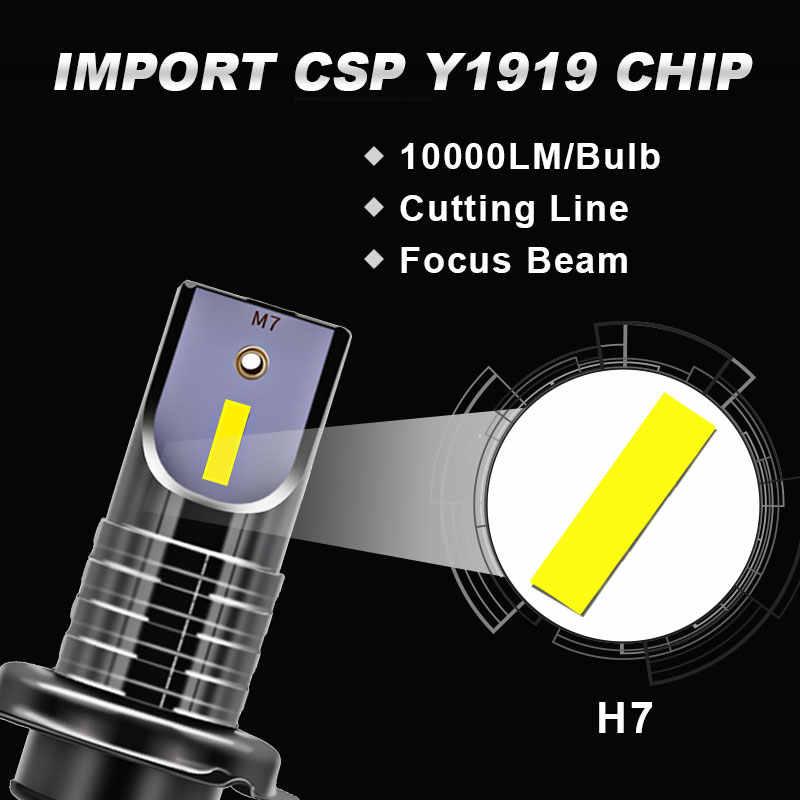 2 piezas LED H7 bombilla de faro CSP Chip LED Canbus Luz de coche | lm/bombilla 50W H9 H11 Mini HB3 HB4 línea de corte 12V 24V estilo de coche