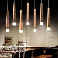 LukLoy Wood Stick Pendant Lamp Lights Kitchen Island Living Room Shop Decoration Modern Natural Wood Pipe
