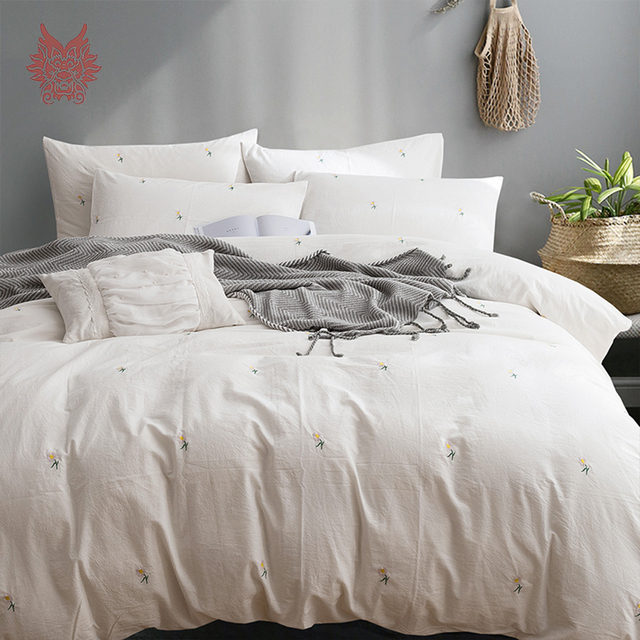 shams organic c blue products shadow cover cotton duvet elm washed west