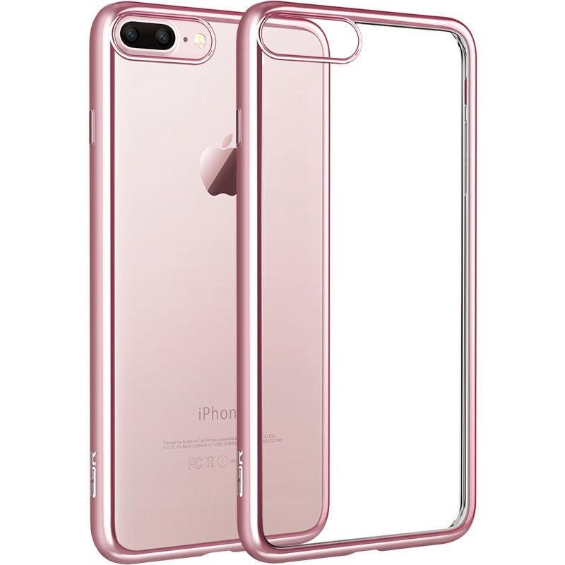 Para iphone 7 case galvanoplastia recubrimiento de goma de lujo ultra delgada de