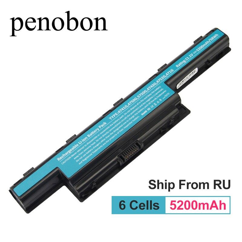 penobon 5200MAh font b Battery b font For Acer Aspire AS10D31 AS10D51 AS10D81 AS10D61 AS10D41 AS10D71