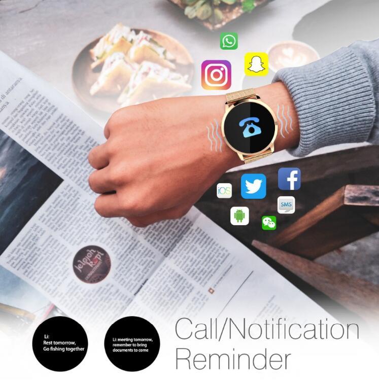 NAIKU Q8 Smart Watch OLED Color Screen men Fashion Fitness Tracker Heart Rate Blood Pressure Oxygen Smartwatch 3