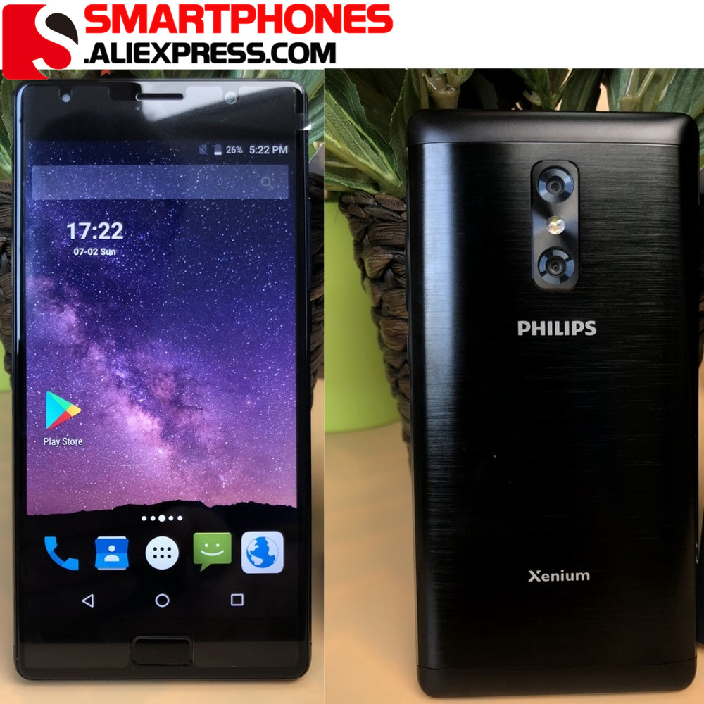 Global Version PHILIPS Xenium X598 4GB 64GB MTK MT6750 13 0MP front 13MP 5MP Battery 4000mAh