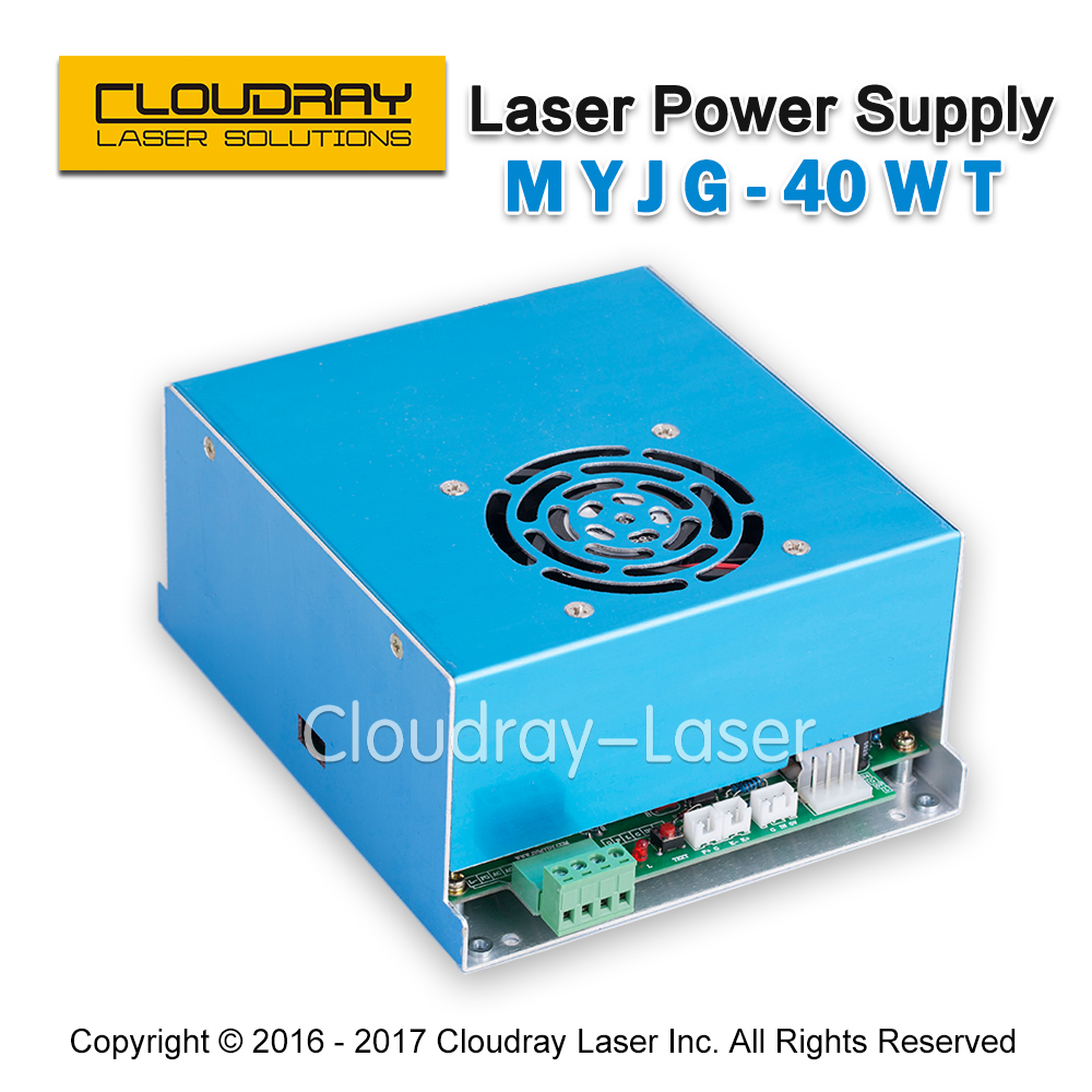 MYJG 40W T White CO2 Laser Power Supply 110V/220V High Voltage for Laser Tube  Engraving Cutting Machine  1 Year Warranty yongli efr co2 40w water cooling tube laser power supply 110v 220v high voltage for engraving cutting machine psu myjg 40w