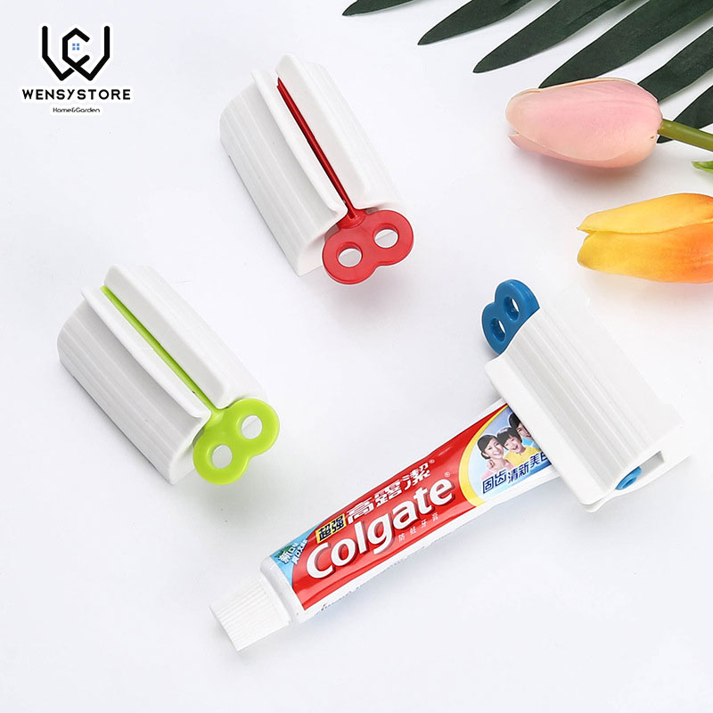 1Pc Multifunction Manual Rotate Toothpaste Squeezer Plastic Bath Dispenser Bathroom Accessories Sets Products Xfx25
